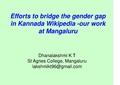 Efforts to bridge Gender gap in Kannada Wikipedia- our work at Mangaluru.pdf