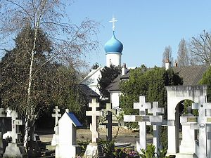White émigré - Sainte-Geneviève-des-Bois Russian Cemetery in Sainte-Geneviève-des-Bois, Essonne, France, near Paris, is a necropolis of White Russians.