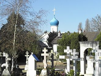 Russians - Sainte-Geneviève-des-Bois Russian Cemetery in Paris, the resting place of many eminent Russian émigrés after 1917