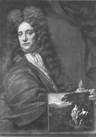 Eglon van der Neer - Selfportrait (1696) in Galleria degli Uffizi