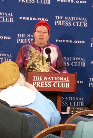 Adam Eidinger - Adam Eidinger at press conference, National Press Club, January 2017