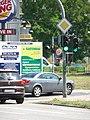 Einmündung der Potsdamer Straße in den Ruhlsdorfer Platz. Der graue Pkw biegt in die Ruhlsdorfer Straße ein. - panoramio.jpg