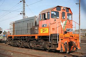 Victorian Railways Y class (diesel) - Y145 at Newport Workshops in 2006