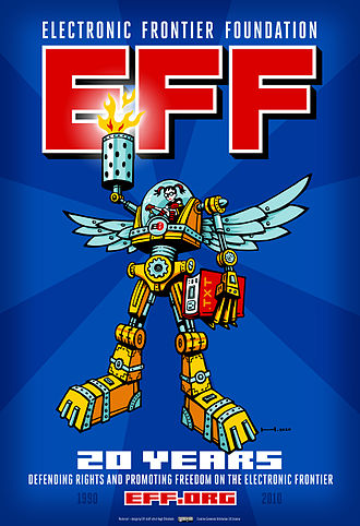 Electronic Frontier Foundation - In early 2010, EFF released this poster in celebration of its founding 20 years before.