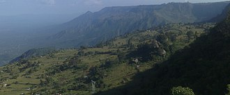 Gregory Rift - Western cliffs of the Eastern Rift Valley near Iten with step faulting