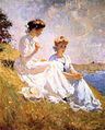 Elizabeth and Anna oil c.1909 Frank Weston Benson.jpg