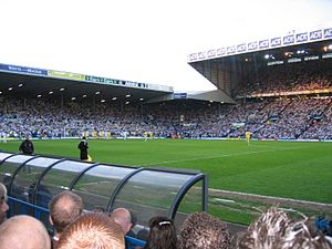 Sport in Leeds - Elland Road hosts the play off semi-final against Preston in 2006