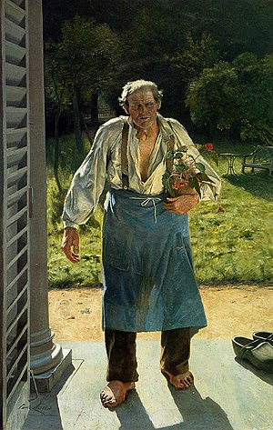 Emile Claus - The Old Gardener, 1885