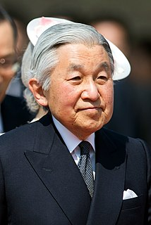 Akihito Emperor of Japan from 1989-2019