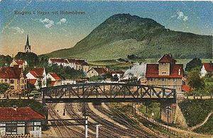 Black Forest Railway (Baden) - Engen station around 1900