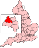 Location map of Newcastle upon Tyne.