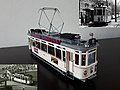 Enjoying my own hand made creation. Tram type 800, Build by firm Allan in Rotterdam, commissioned by the Haagsche tramweg Maatschappij the HTM. (47342218232).jpg