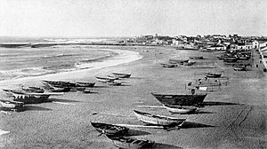Port of Póvoa de Varzim - The sheltered bay after the works of Reinaldo Ourdinot.