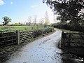 Entrance drive off minor road - geograph.org.uk - 1566717.jpg