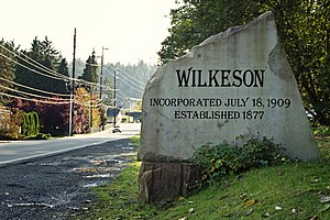 Wilkeson, Washington - Image: Entrance sign in Wilkeson