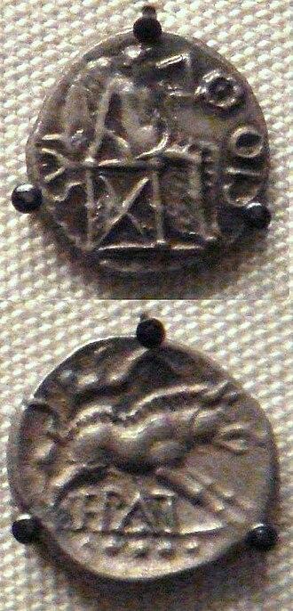 Catuvellauni - Coins of Epaticcus, king of the Catuvellauni.
