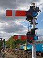 Epping-Ongar-Railway North Weald Semaphore railway signal Essex England.jpg
