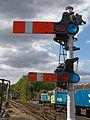 Epping-Ongar-Railway North Weald Semaphore railway signal Essex England.jpg