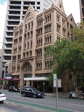 Pirie Street, Adelaide - The Epworth Building on the south side of Pirie Street, between King William Street and Gawler Place