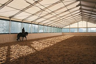 Riding hall - A textile riding hall