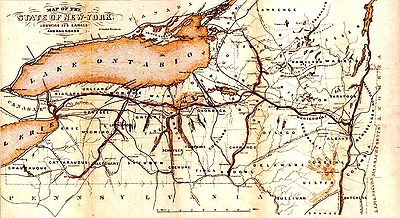 1853 Map of the Erie Canal.