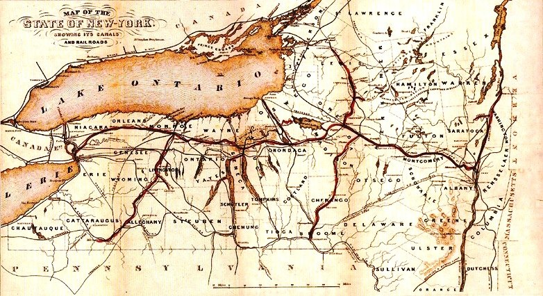 Erie Canal Map 1853