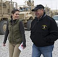 Erin Burnett interviewing Leon Panetta in Afghanistan Dec 13, 2012 crop.jpg