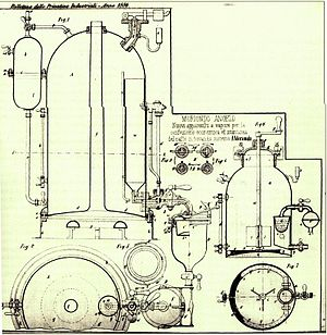 Espresso machine - First patent (vol. 33 n. 256, 1884) for the Espresso Machine, by Mr. Angelo Moriondo