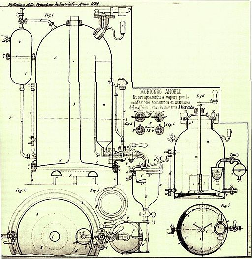 Espresso-machine-first-patent-angelo-moriondo
