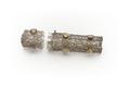 Etui av silverfiligran med trepassformig genomskärning besatt med nio stenar av gult glas - Skoklosters slott - 92318.tif