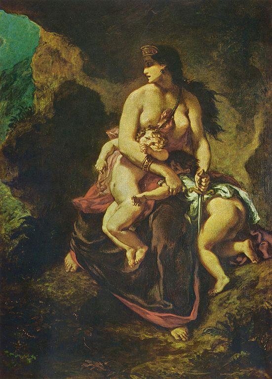 Medea About to Murder Her Children by Eugène Ferdinand Victor Delacroix, 1862 (Wikimedia Commons)