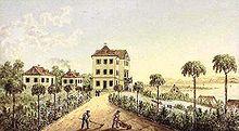 Schloss Eugensberg um 1850 (Quelle: Wikimedia)