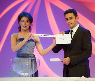 Azerbaijan in the Eurovision Song Contest 2012 - Semi-final allocation draw on 25 January 2012. Azerbaijan voted in the first semi-final.