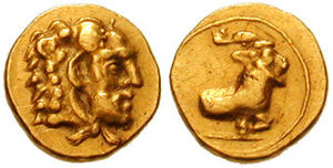 Evagoras I - 1/10th stater, (411 – 374 BC), 0.71 g, SNG Copenhagen 733597