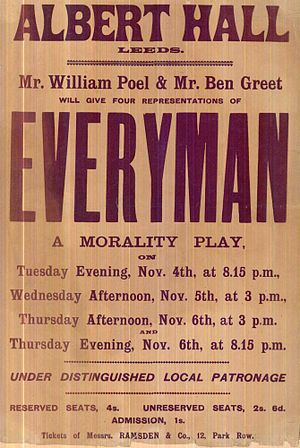 Everyman (modern play) - Play bill for the 1902 London production
