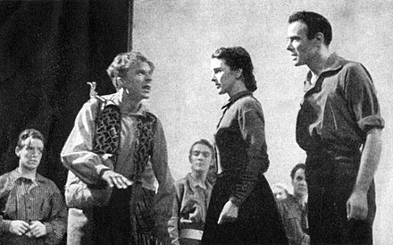 Norman Lloyd, Katherine Emery and Dean Jagger in the Broadway production of Everywhere I Roam (1938) Everywhere-I-Roam-Lloyd-Emery-Jagger.jpg