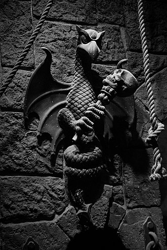 Evil Queen (Disney) - A gargoyle ornament in the Queen's dungeon in Snow White's Scary Adventures