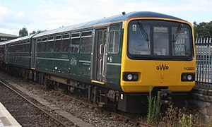 British Rail Class 143 - A Great Western Railway unit at Exeter.