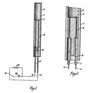 Exploding-bridgewire detonator Detonator fired by electric current