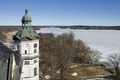 Exteriör. Nordöstra tornet med omgivning - Skoklosters slott - 87210.tif
