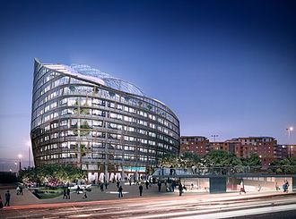 One Angel Square - A CGI image of the proposed design, announced in May 2009.