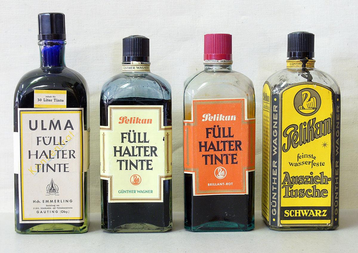 Asian ink bottles