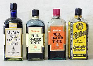 Ink - Bottles of ink from Germany