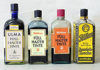 Ink Liquid or paste that contains pigments or dyes