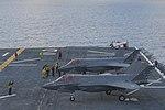 F-35B Lightning IIs of VMFA-211 aboard USS Essex (LHD-2) on 19 August 2017 (170819-N-RY670-136).JPG