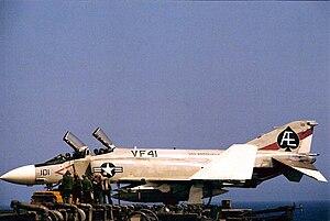 VFA-41 - Image: F 4J VF 41 USS FD Roosevelt 1970 72