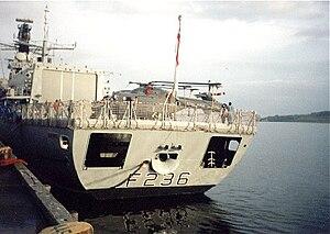 HMS Montrose (F236) - Montrose in Dundee Docks, 1998