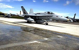 "Tactical Support Wing - VFA-204 Hornets at Guam during the ""Valiant Shield '07"" exercise."