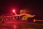 FA-18E Super Hornet prepares to launch from the flight deck of the aircraft carrier USS Harry S. Truman.jpg