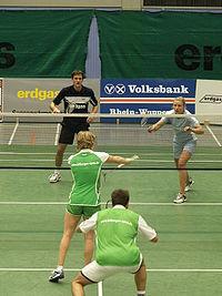 Zápas v badmintonu
